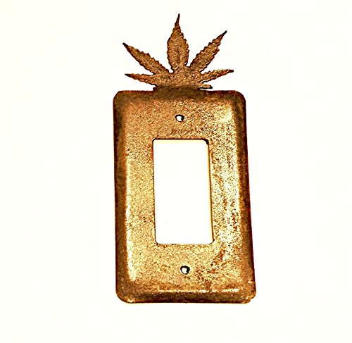1. American Metall Art Elektrische Single Toggle Metall Rost Rustikal-Cover Srocmarijl-02 - 2 Rocker Wall Plate