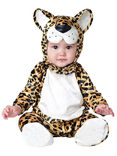 Leopard Tier Baby Kostüm 3-24m Long Sleeve Flanell ONE PIECE BABY Kleidung Baby Strampler