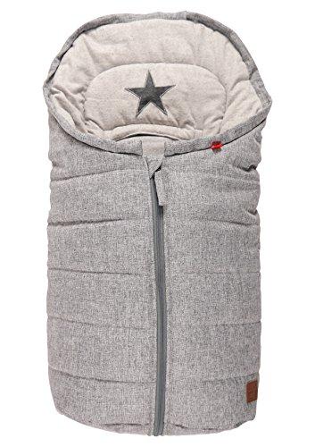 Preisvergleich Produktbild Kaiser 65337223Anna Fußsack für Baby-Autositze Baumwolle Fleece Stern-Applikation grau meliert