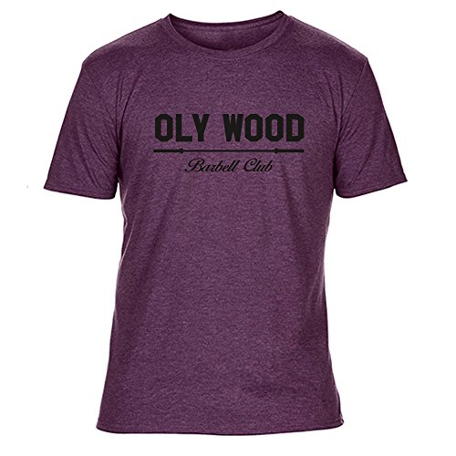 GO HEAVY Camiseta Para Hombre - Oly Wood - Heather Purple - XL