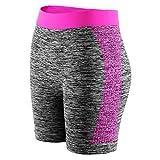 Libella Damen Leggngs Sportshorts Kurze Sporthose Laufhosen Yoga Tight Shorts Sommer Fitness 4139 Pink L/XL