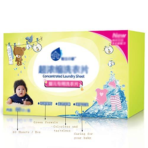 FKZL (1 Karton = 60 Blatt) Reisewaschmittel, Waschpulver in einem Blatt, Waschmittelblatt