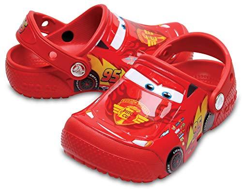 Crocs Fun Lab Cars Clog Kids, Niños Zueco, Rojo (Flame),...