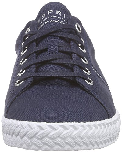 Esprit Silvana Lace Up, Sneakers basses femme Bleu - Blau (400 navy)