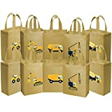 Ava & Kings 10 pack Reusable Party Favor Kids Goodie Bags - Construction Work