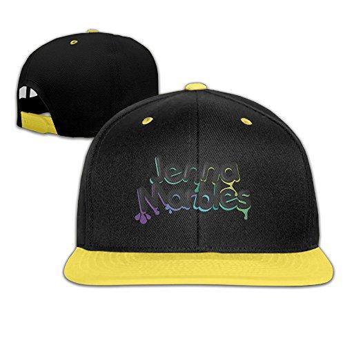 kgg-99g-kids-jenna-marbles-plain-adjustable-snapback-hats-caps-yellow