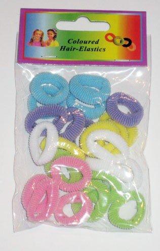 +/- 24 mini élastiques colorés