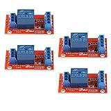 Sharplace 3V 1 Kanäle Relais Modul-Brett Relais Modul für Arduino PIC ARM, LED Anzeige ( 4 Stück )