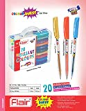Flair 20 Brilliant Colours Burst Gel Pen - 20Pieces in Each Set