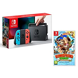 Nintendo Switch Konsole 32Gb Neon-Rot/Neon-Blau + Donkey Kong Country: Tropical Freeze