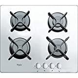 Whirlpool AKT 6400/WH Built-in Gas White - Hobs (Built-in, Gas, Glass, White, Rotary, Top front)