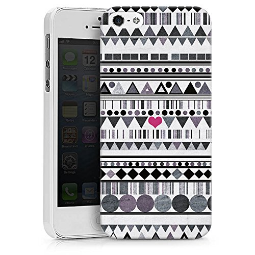Apple iPhone X Silikon Hülle Case Schutzhülle Muster Herz Art Hard Case weiß