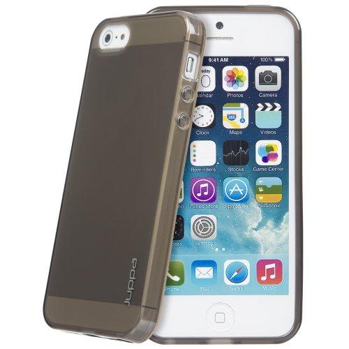 Juppa® Apple Iphone 5 / 5S TPU Silikon Tasche Hülle Schutzhülle mit LCD displayschutzfolie (Bleu / Blue) Schwarz / Black
