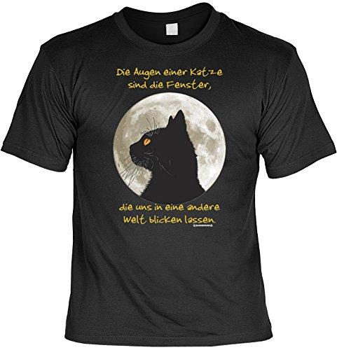 (Witziges Sprüche Fun T-Shirt : Die Augen einer Katze ...)