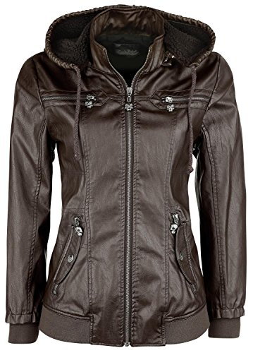 Rock Rebel by EMP Hooded Jacket Giacca donna marrone XS