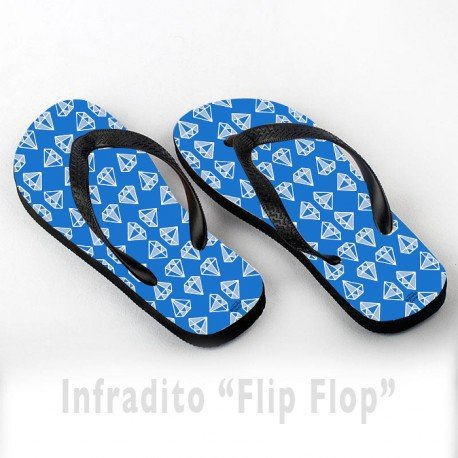 Infradito FlipFlop Personalizzate Diamanti Blu Pattern Blue Diamonds