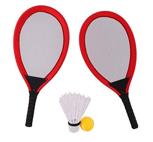 TOYLAND Juego de Tenis y bádminton de 65 cm - 2 Raquetas Gigantes con Volante Gigante y Pelota de Tenis Gigante