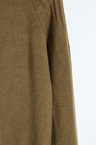 Vogueearth Fashion Hot Donna's Ladies Lungo Manica Twist Knit Jumper Maglieria Sweater Pullover Top Caffè