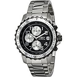 Invicta Pilot Collection Men's Quartz Watch with Chronograph Display and Stainless Steel Bracelet