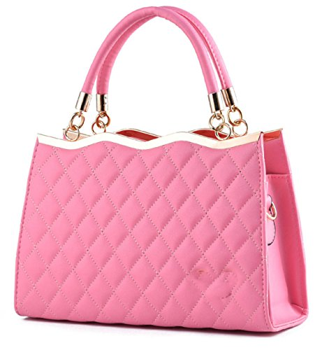 Elegante Fashion Bowknot Tote Ladies ' Pink