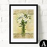 HY&GG Moderne, Einfache Dekorative Malerei Von Wohnzimmer Restaurant Wandmalereien Von Wunderschönen Bunten Blumen Bilder, 12X18, Weiß