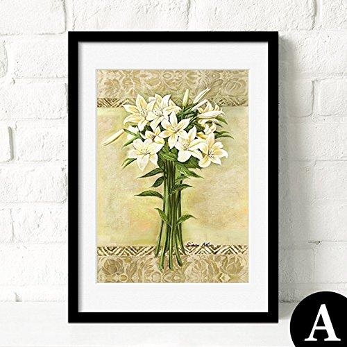 Burgund Leinwand (HY&GG Moderne, Einfache Dekorative Malerei Von Wohnzimmer Restaurant Wandmalereien Von Wunderschönen Bunten Blumen Bilder, 16 X 20, Burgund)