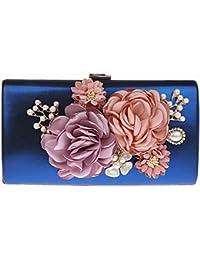 KAXIDY Elegant Abendtasche Blumen Clutch Abendtaschen Handtasche Hochzeittasche