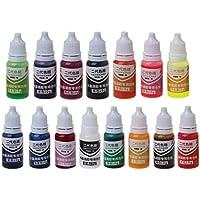 SimpleLife 10ml 15 Colori Resina epossidica Resina colorante Gioielli pigmento Liquido Bagno Bomba Sapone tintura (Tutti i Colori)