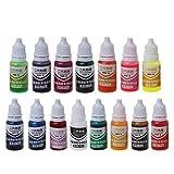 SimpleLife 10 ML 15 Couleurs de résine époxy UV Colorant Bijoux Pigment Liquide Bombe Savon Savon Colorant (Toutes Les Couleurs)