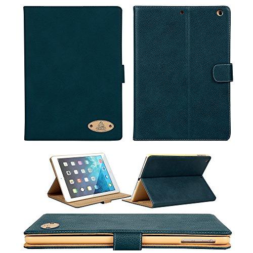 Apple iPad Tutti i Modelli/vera pelle di lusso esecutivo Custodia Gorilla Tech marca Smart Design Cover con Supporto e Protezione Schermo da proteggere con stile Serie in imballaggio al dettaglio Dark Blue iPad Pro 9.7