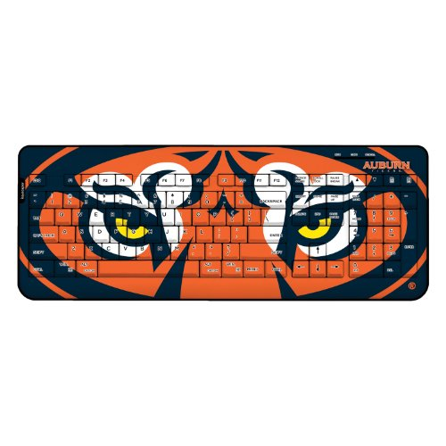 Auburn Tigers Keyscaper Wired Keyboard officially licensed by Auburn University Full Size Low Profile Direct Print Plug & Play by keyscaper