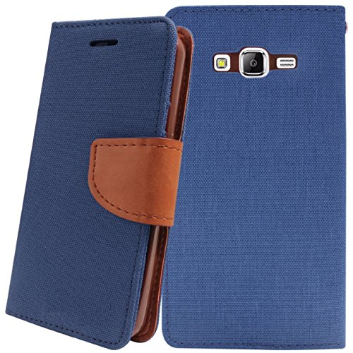 Relax And Shop Premium Look Flip Cover For Xiaomi Redmi Note 4G - Navy Blue  available at amazon for Rs.159