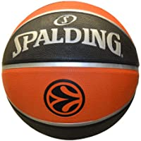 Spalding Basketball Euroleague TF150 Out 73-985Z - Pelota de baloncesto (oficial), color naranja, talla 7