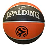 Spalding Basketball Euroleague TF150 Out 73-985Z - Pelota de baloncesto (oficial), color naranja, talla 7