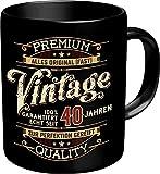 RAHMENLOS Original Kaffeebecher zum 40. Geburtstag: Vintage 40 - Im Geschenkkarton 2632