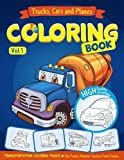 Trucks, Planes and Cars Coloring Book: Cars coloring - Best Reviews Guide