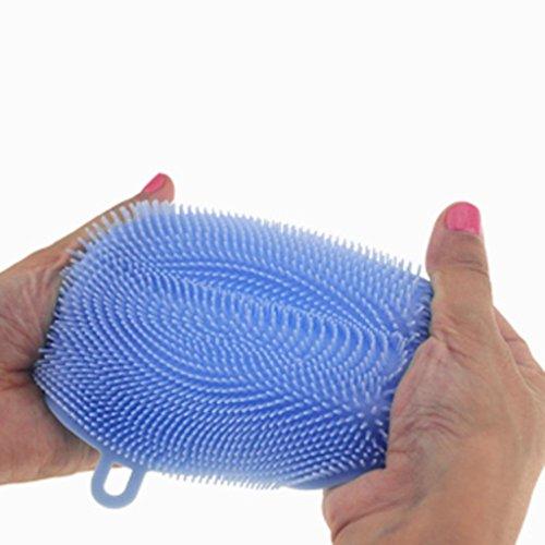 kingko® Antibakteriell Silikon Reinigungsbürste Pad Gericht Fruit Scrubber Küche Werkzeug Multifunktions Reinigung Werkzeug