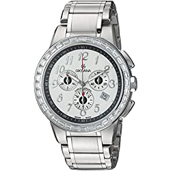 GROVANA 2094.9732 Unisex Quartz Swiss Watch with Silver Dial Chronograph Display and Silver Stainless Steel Bracelet