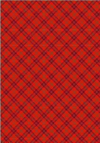 Rot Schottenkaro Bedruckt Zucker zuckerguss blatt (ca. 19.1cmx12.7cm) für kuchen dekoration - Schneiden essbar formen von der mit basteln messer oder scheere zum aufstecken on your