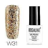 ROSALIND 7ML Diamant Gel lackiert Hybrid Nägel Art Semi-permanent saugen UV-Gel weiße Nagellack-Set für Maniküre Primer Top