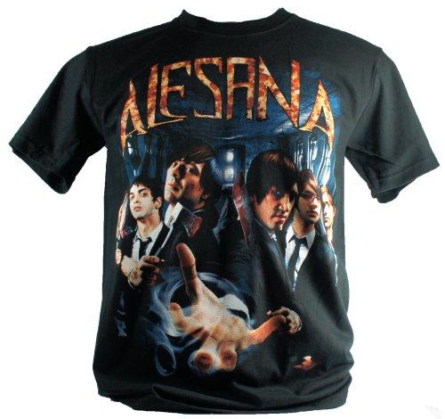 Alesana-Maglietta da uomo nero Full Band Large Size L