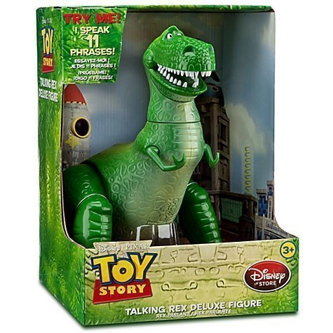 "Disney Pixar Toy Story Deluxe Talking Rex 12"" Figure by Disney [Toy] (English Manual)"