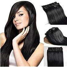 De Clip en extensiones para completa pelo garantía–Alta calidad Remy de pelo natural–60cm