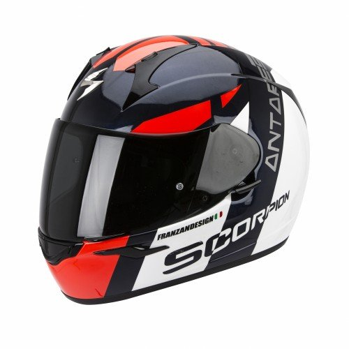 Scorpion - Casque moto - Scorpion EXO-410 AIR ANTARES Blanc/Noir/Rouge