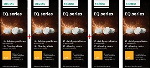 SIEMENS TZ80001N 50 Stück Reinigungstabletten für alle Kaffeevollautomaten der EQ. Series