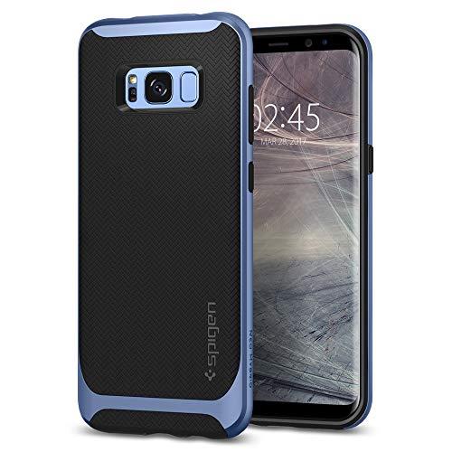 Spigen 565CS21598 Neo Hybrid für Samsung Galaxy S8 Hülle, Zweiteilige Handyhülle Modische Muster Silikon und PC Rahmen Schutzhülle Case Blue Coral Neo Hybrid