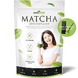 Premium Matcha Grüner Tee Pulver aus Japan – 100g – BONUS Origami Messlöffel – Perfekt für Drinks und Speisen – KOSTENLOSES Rezeptbuch inklusiv