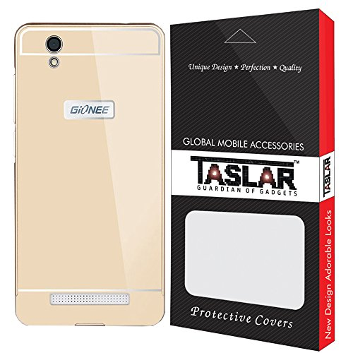 Taslar Metal Luxury Aluminium Side and Acrylic Back Cover Case For Gionee F103 4G (Gold)