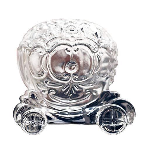 ZXZMONG Vasen,Kristallglas Kürbis Auto Tank Schmuckschatulle Hochzeit Pralinenschachtel Exquisite Glas Pony -