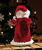 """infactory Weihnachtsartikel: Singender, tanzender Weihnachtsmann """"Swinging Santa"""", 28 cm (Tanzender Weihnachtsmann mit Musik) - 9"""